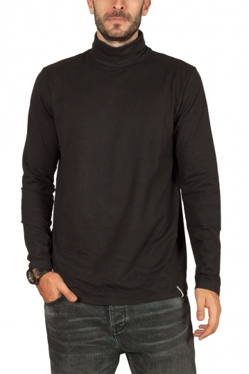 Anerkjendt Akkomet organic cotton turtleneck tee black