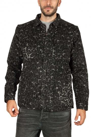 Anerkjendt Aklobi shirt jacket με άνιμαλ πριντ
