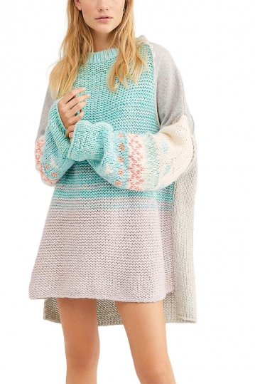 Free People Polar opposites longline sweater