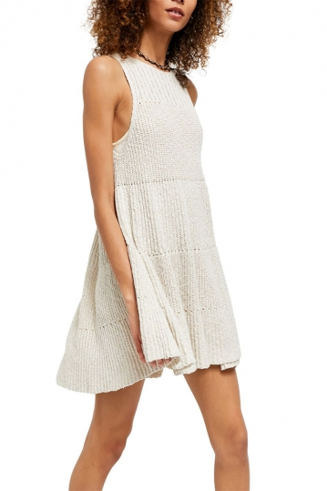 Free People Waterfall ruffle knit dress