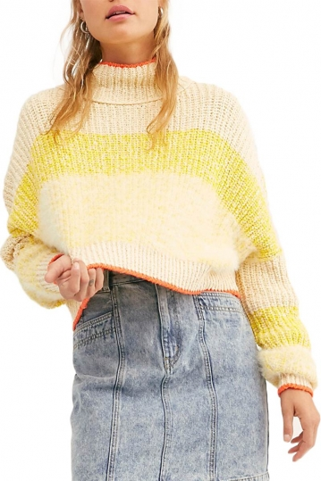Free People Sunbrite crop πουλόβερ