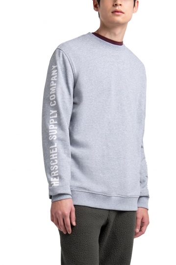Herschel Supply Co. sleeve print crewneck grey