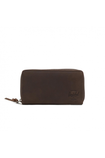 Herschel Supply Co. Thomas leather RFID wallet nubuck brown