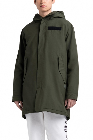 Herschel Supply Co. men's sherpa lined Fishtail parka dark olive
