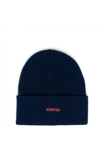 Herschel Supply Co. Elmer ID beanie peacoat/hot coral
