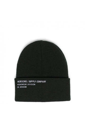 Herschel Supply Co. Elmer print beanie dark olive