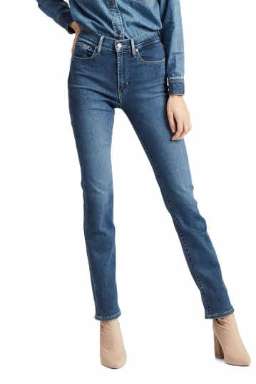 Levi's® 724 high waisted straight jeans paris stroll