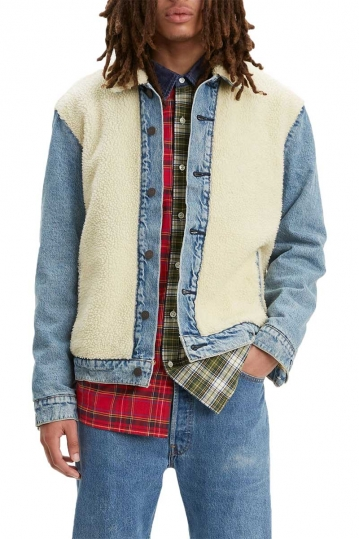 Levi's® sherpa panel trucker jacket so sheepy medium wash