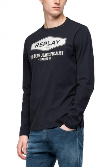Replay The blue jeans specialist long sleeved t-shirt