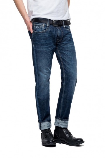 Replay Rob straight tapered fit jeans blue