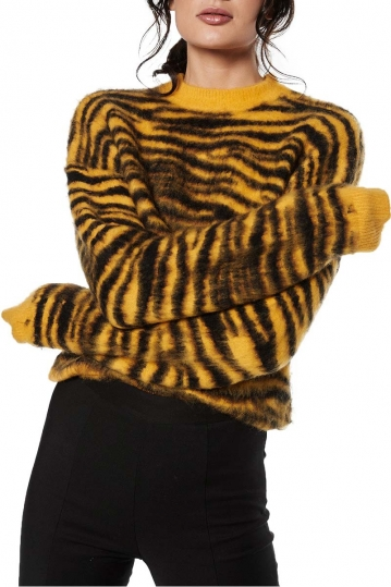 Rut & Circle Zebra Jacquard knit yellow