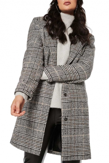 Rut and Circle Becka check coat grey-black