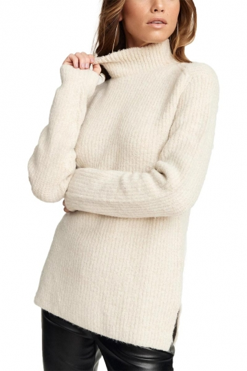 Rut & Circle Marielle turtleneck jumper beige