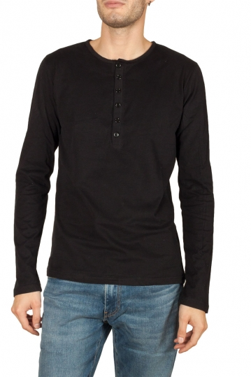 Bigbong long sleeve Henley tee black