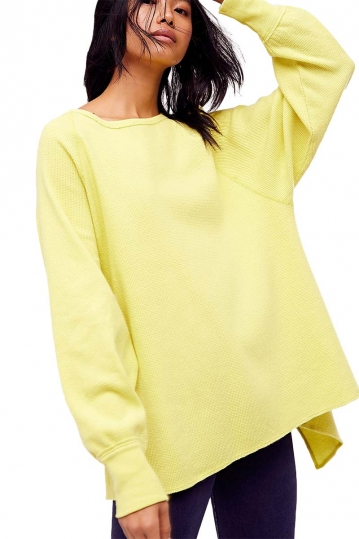 Free People Amelia thermal lemon