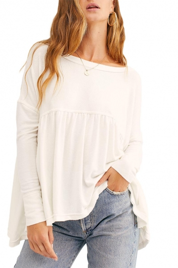 Free People Forever your girl tee white