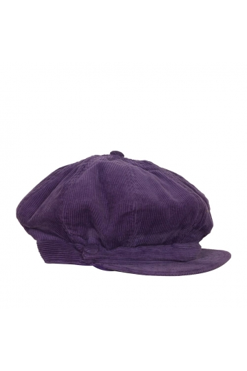 Women's nautical cap corduroy purple