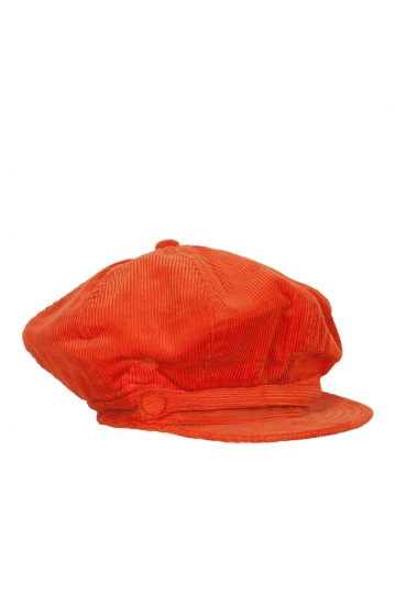 Women's nautical cap corduroy orange