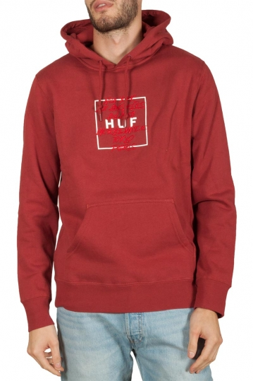 Huf Takeover hoodie rose wood red