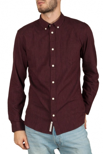 Minimum Jay 2 shirt bordeaux melange