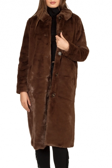 Minimum Evie faux-fur coat brown