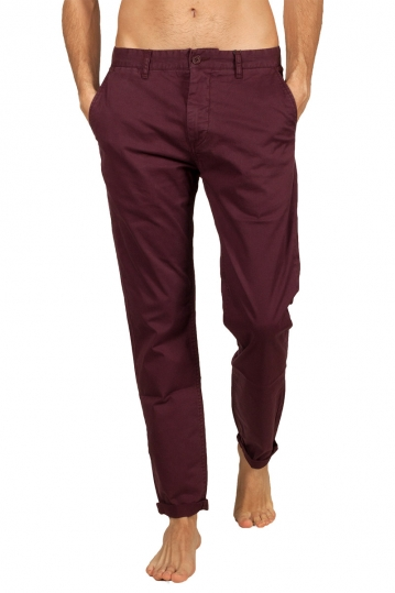 Minimum Norton chino pants bordeaux