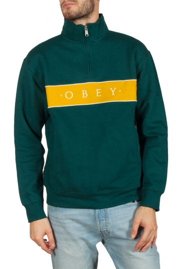 Obey Deal mock neck sweatshirt