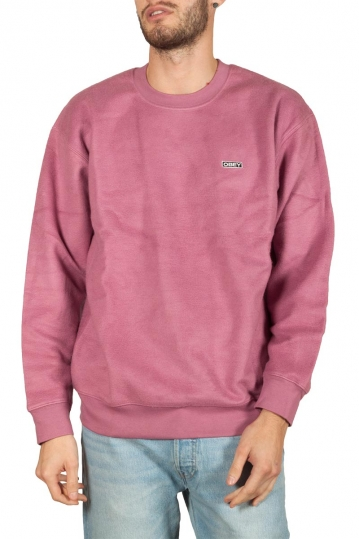 Obey Rewind reversed fleece mauve