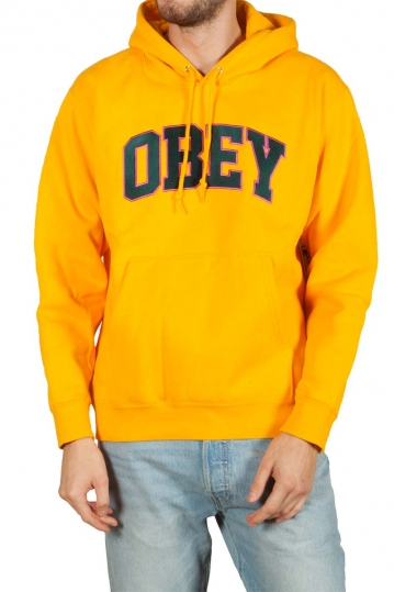 Obey Sports hoodie yellow