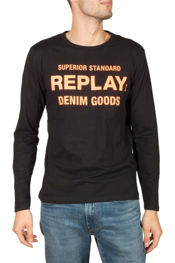 Replay Denim Goods long sleeve t-shirt black