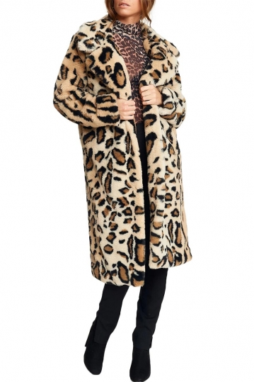 Rut & Circle Nova faux-fur leo coat