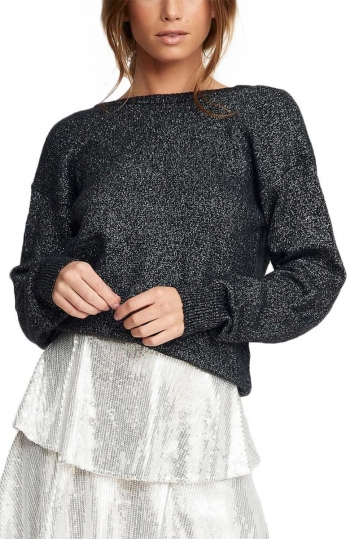 Rut & Circle Marie glitter sweater black