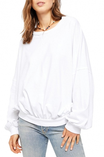 Free People 213 oversized tee white