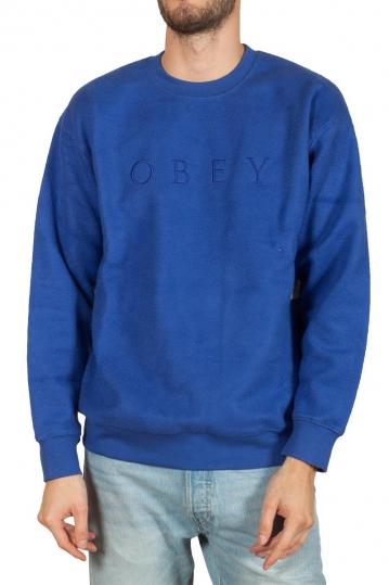 Obey Trophy reversed fleece blue