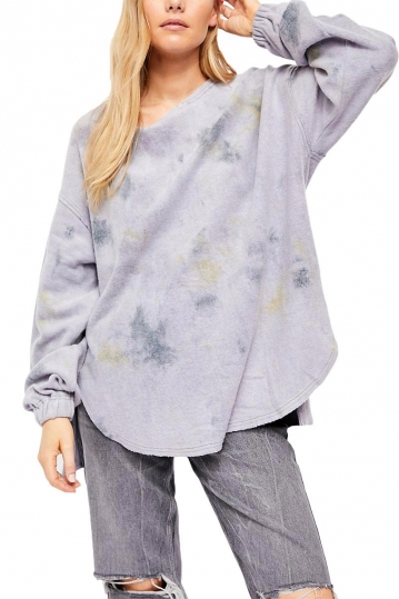 Free People Someday sweatshirt aquamarine combo