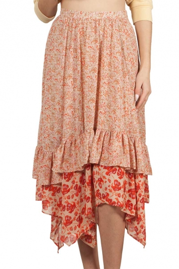 Free People Zuma Drippy ruffle skirt