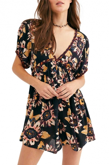 Free People On The Edge romper floral