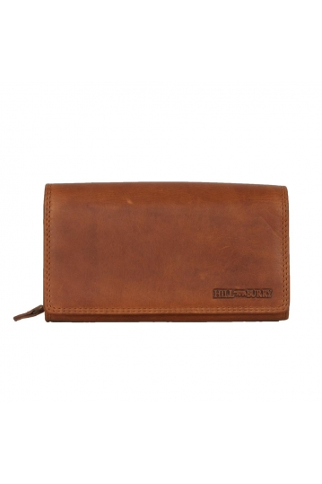 Hill Burry RFID leather clutch wallet brown