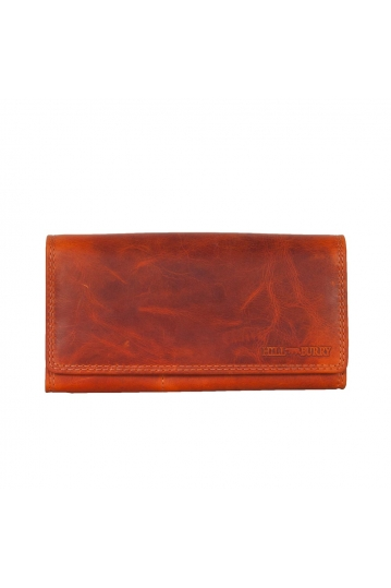 Hill Burry RFID leather clutch wallet orange