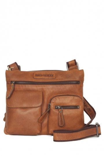 Hill Burry men's leather cross body bag with top-handle