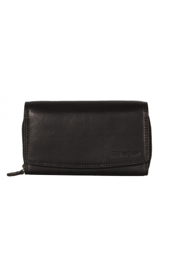 Hill Burry leather clutch wallet black