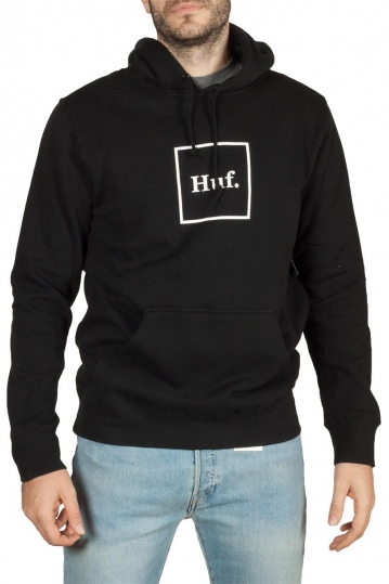 Huf essentials box Logo hoodie black