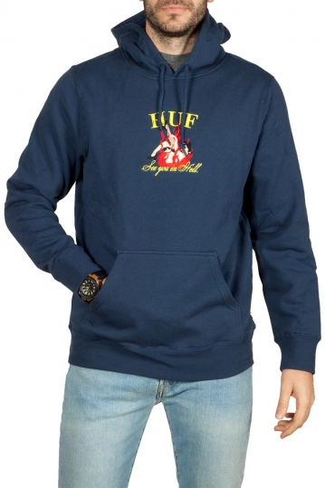 Huf see you in hell hoodie insignia blue