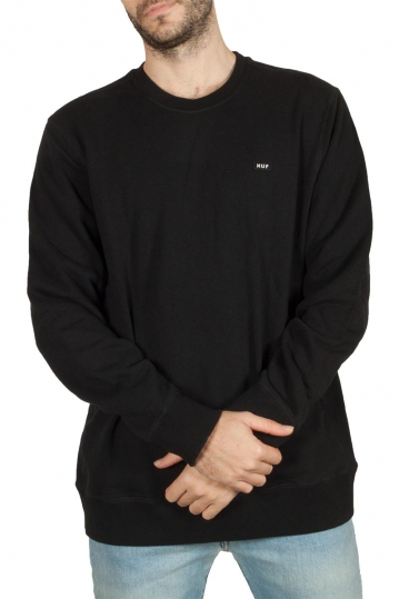 Huf Bar Logo crewneck sweatshirt black