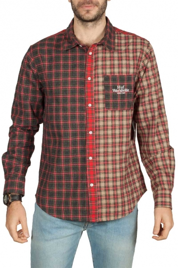 Huf Swire long sleeve plaid shirt