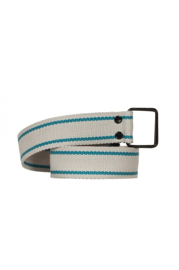 Web belt light grey blue stripe
