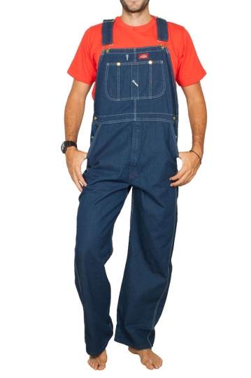 Dickies denim overall rinsed indigo blue