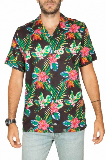 Dickies Shiloh hawaiian shirt black