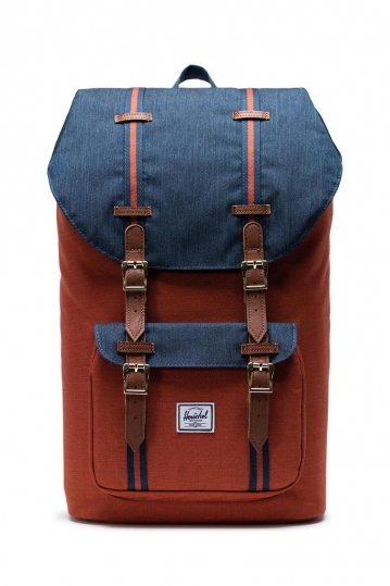 Herschel Supply Co. Little America backpack indigo denim/picante crosshatch/tan