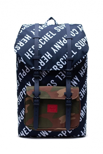 Herschel Supply Co. Little America backpack roll call peacoat/woodland camo
